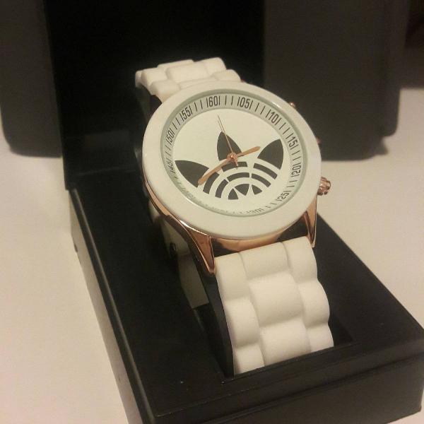 Relógio adidas feminino pulseira silicone