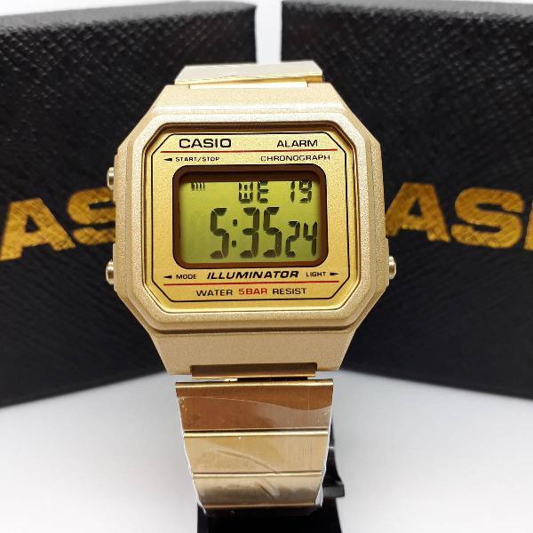 Relógio casio b650 dourado lançamento vintagem aço