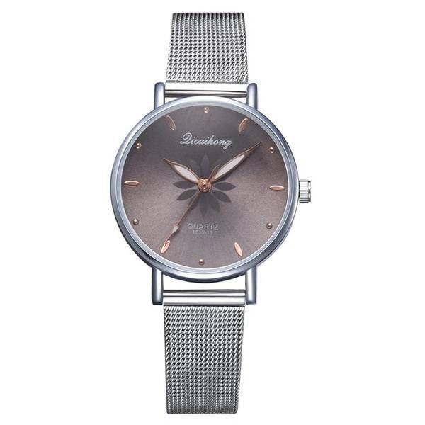 Relógio de pulso quartzo feminino preto 77 queens
