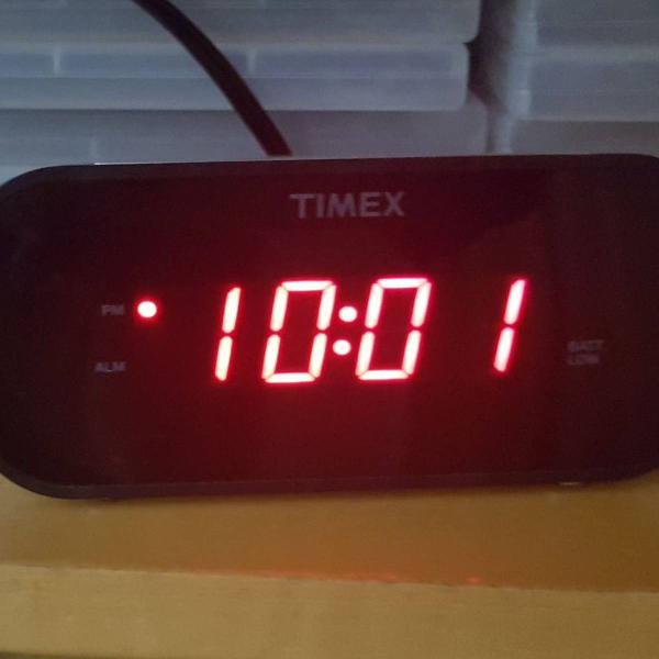 Relógio despertador timex