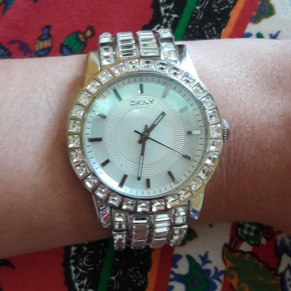 Relógio dkny swarovski