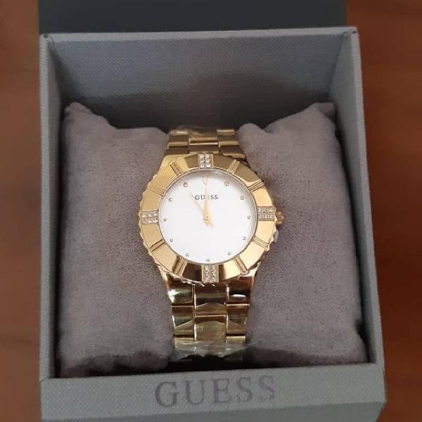 relógio dourado guess original