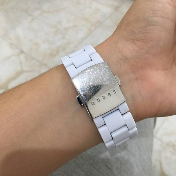 Relógio feminino guess branco original