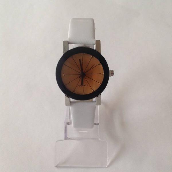 Relógio feminino quartzo branco