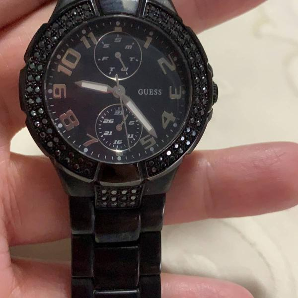 Relógio guess preto original (usado) ótimo estado