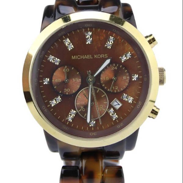 Relógio michael kors tartaruga dourado mk 5216