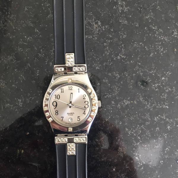 Relógio preto swatch original