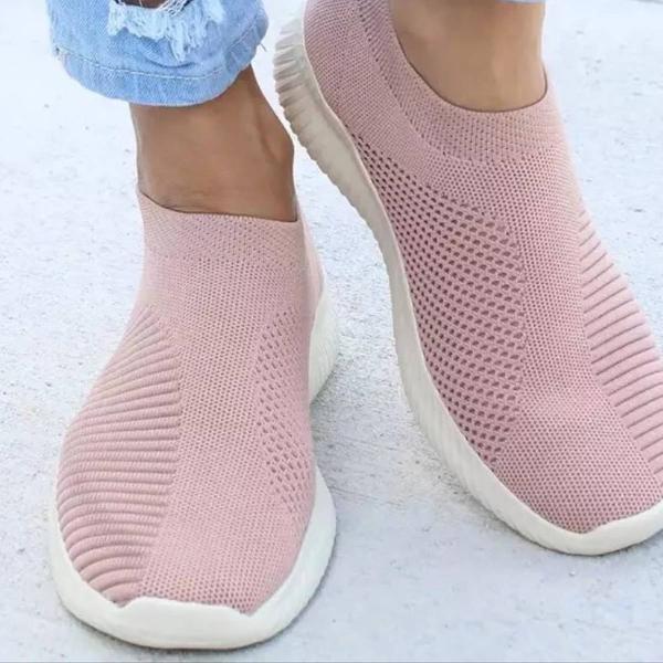 Sapatilha rosa claro