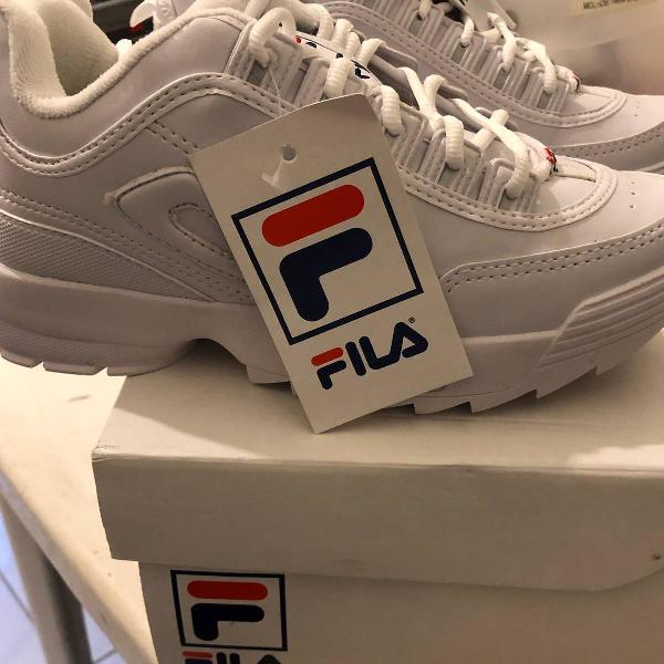 tenis fila cor branca