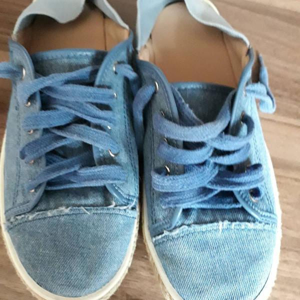 Tenis mule arezzo jeans