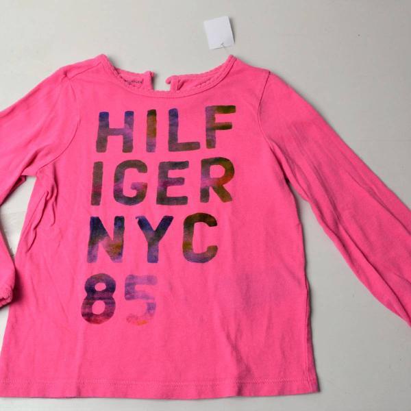 Blusa rosa infantil tommy hilfiger