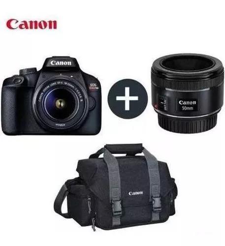 Câmera canon digital rebel t100 18-55 + lente ef50mm +