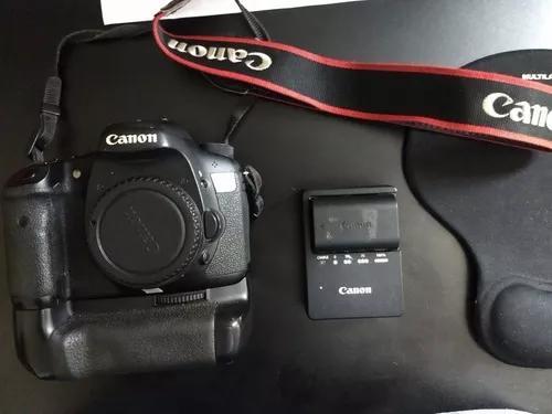 Câmera canon eos 7d grip duas baterias e lente 50 mm