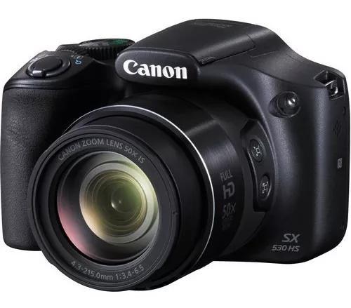 Câmera digital canon powershot sx530 hs com tripe ch prata