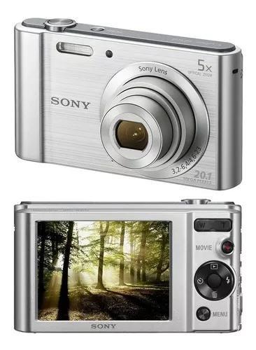 Câmera digital sony w800 20.1mp 5x zoom óptico foto vídeo