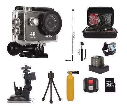 Câmera eken h9r 4k original com vários acessórios 32gb