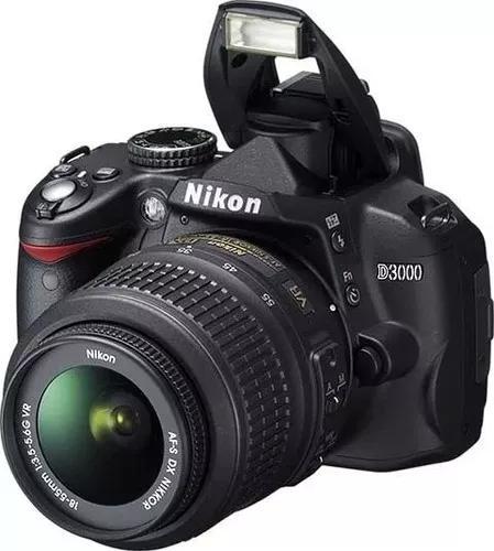 Câmera nikon d3000 com lente 18-55mm muito conservada