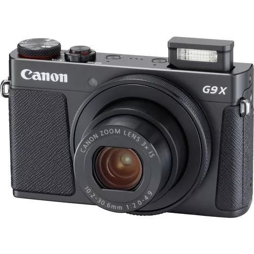 Câmera profissional digital canon powershot g9x mk ii preto