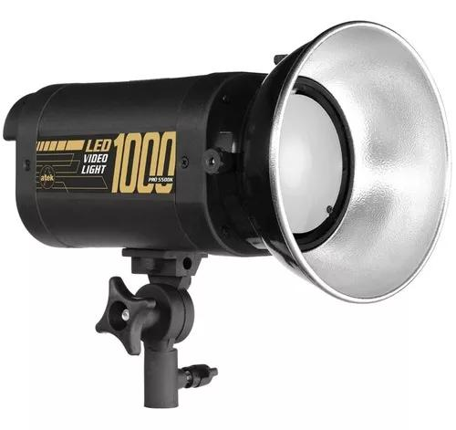 Iluminador video light led 1000 pró 5500k com dimmer