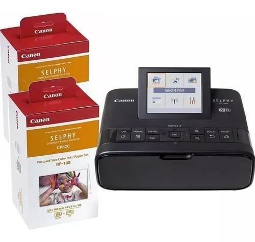 Kit impressora fotográfica canon cp1000 + 2 cartuchos rp108