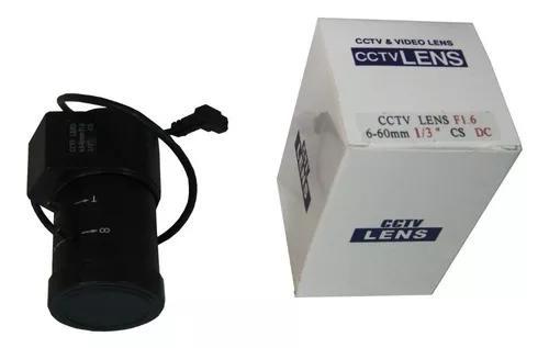 Lente Auto Iris Varifocal De 6 Mm A 60mm, Para Cftv