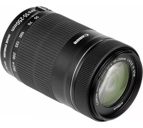 Lente canon 55-250mm f/4-5.6 is stm c/ nf 1 ano de garantia