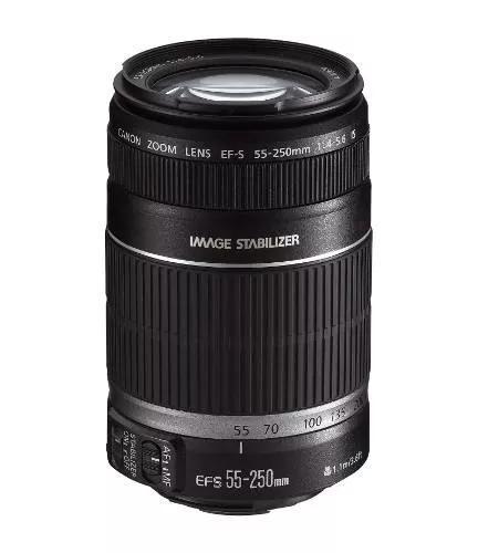 Lente canon ef-s 55-250mm f/4-5.6 is stm - garantia+nf