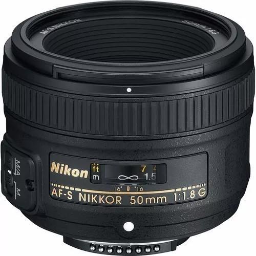 Lente nikon af-s nikkor 50mm f/1.8g autofoco garantia novo