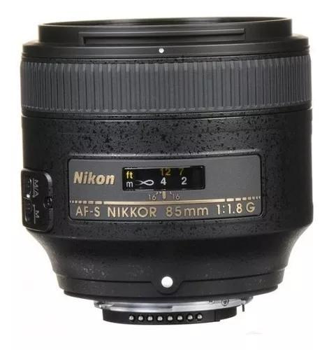Lente nikon af-s nikkor 85mm f/1.8g autofoco garantia sjuros