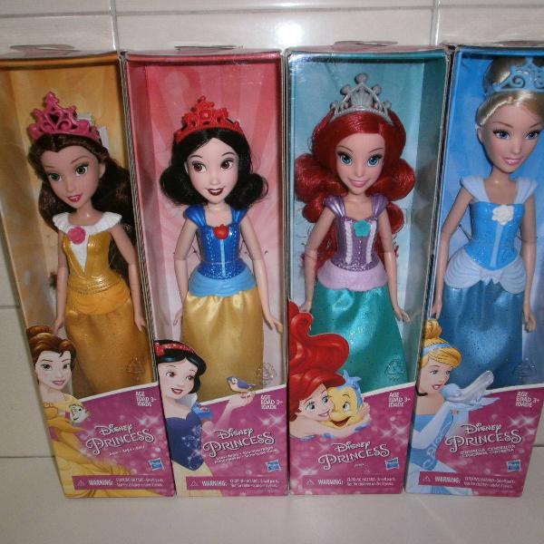 Lote de 4 bonecas princesas disney *** novas ***