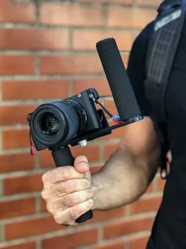 Mz Alpha Grip Estabilizador Suporte Camera Dslr Canon Sony