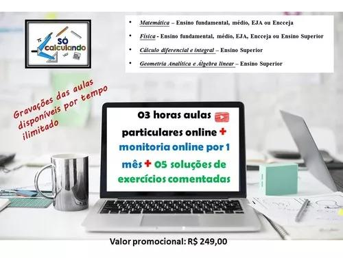Pacote aulas particulares online mat