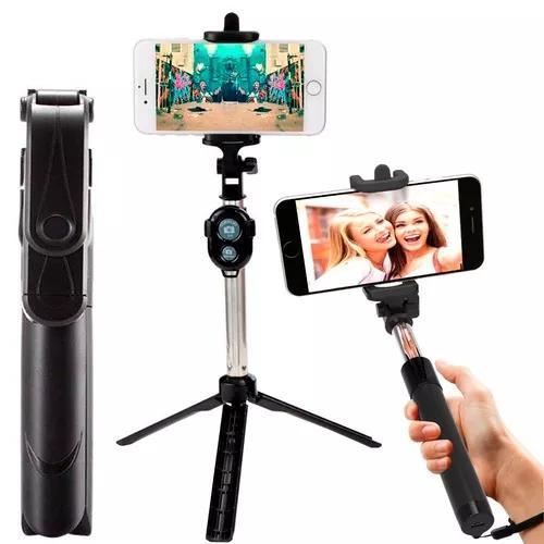 Pau selfie monopod tripe bastão retrátil controle