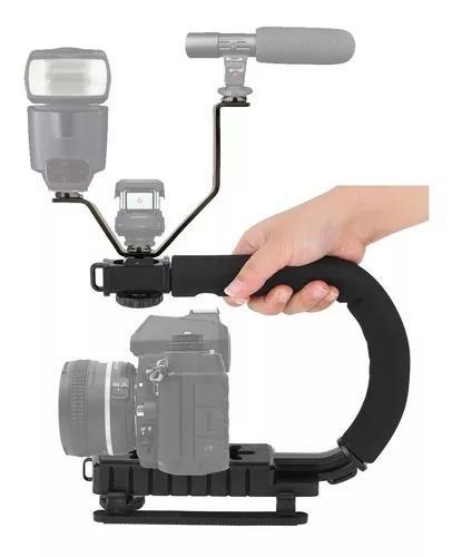 Steadycam estabilizador dslr e video c shape +adaptador ls18