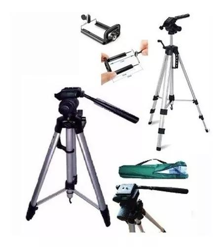 Tripé telescópico profissional 1,80 + suporte celular