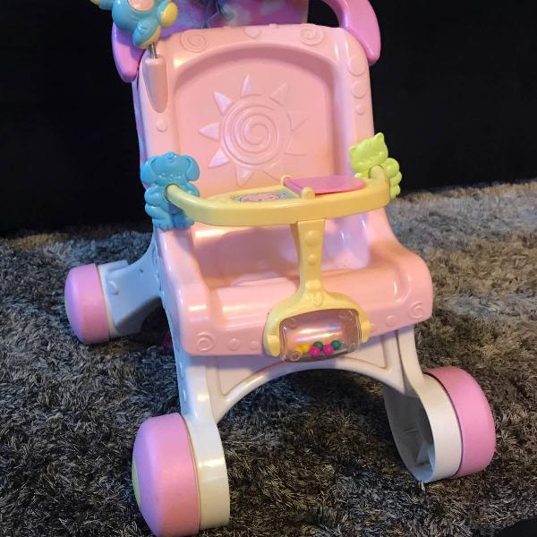 Andador - meu primeiro carrinho de bebê -fisher-price