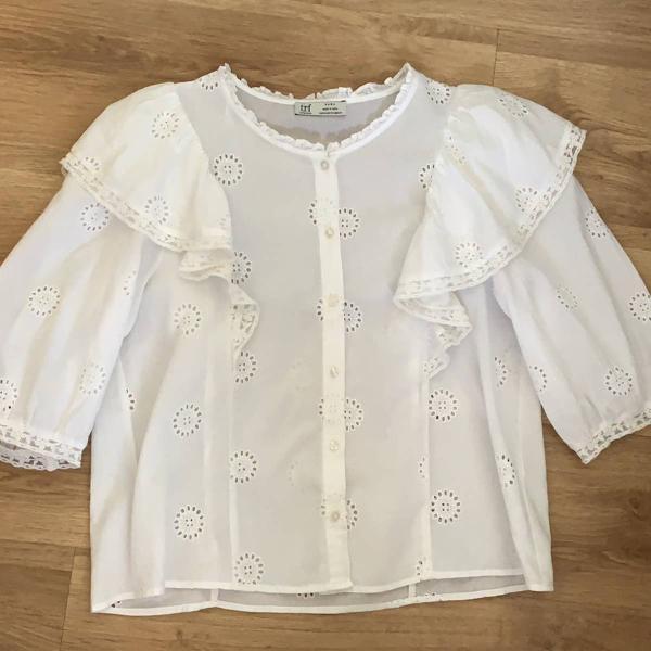Blusa algodão zara