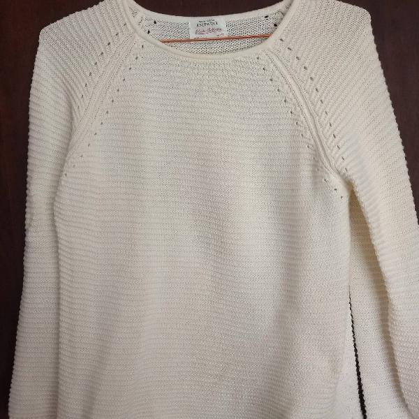 Blusa de fio branca