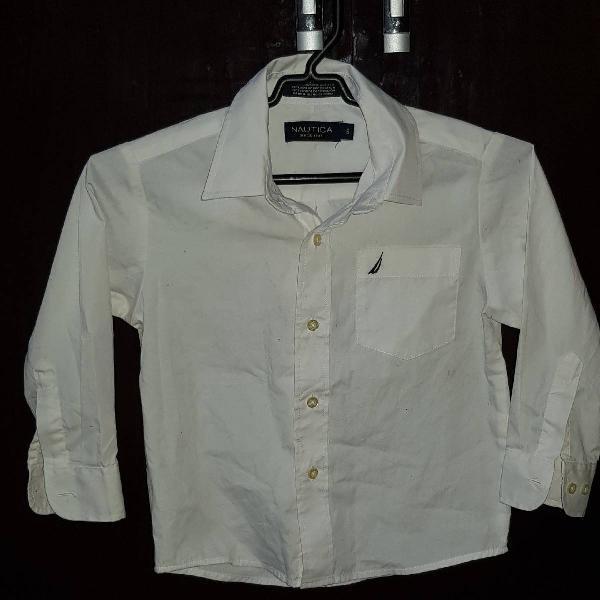 Camisa infantil social, branca tam.5