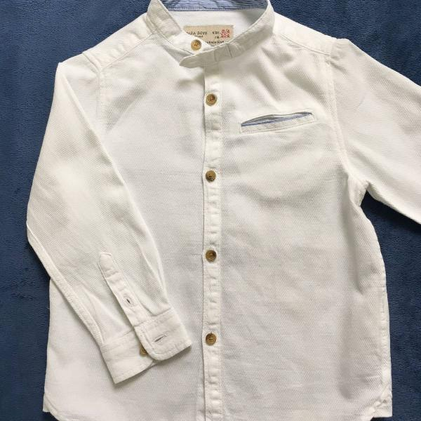 Camisa manga longa zara