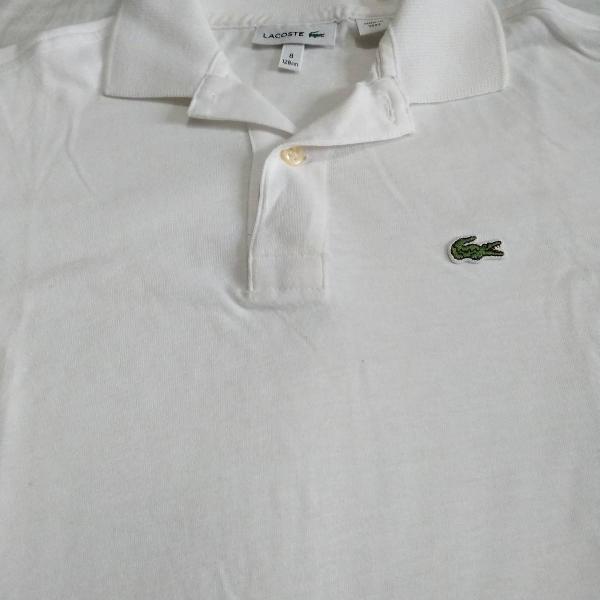 Camisa polo lacoste 08 anos