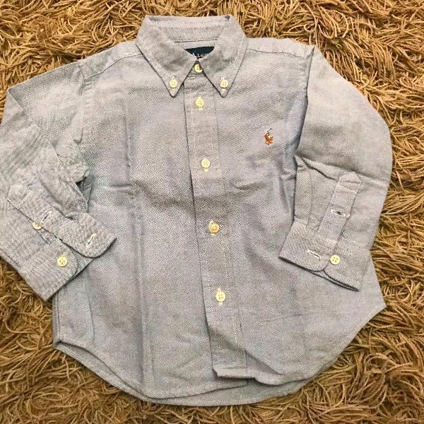 Camisa polo ralph lauren azul clara