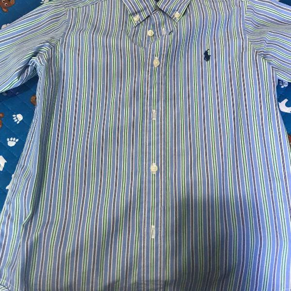 Camisa social infantil ralph lauren