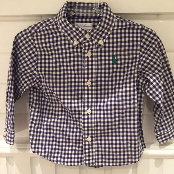 Camisa xadrez menino polo ralph lauren