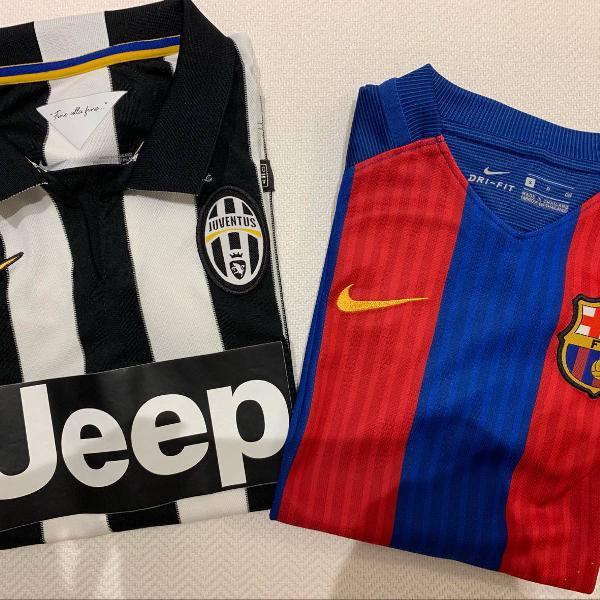 Camisas oficiais juventus e barcelona