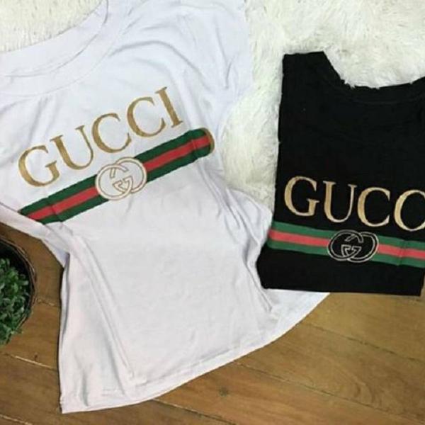 Camiseta gucci feminina personalizada reproduzida