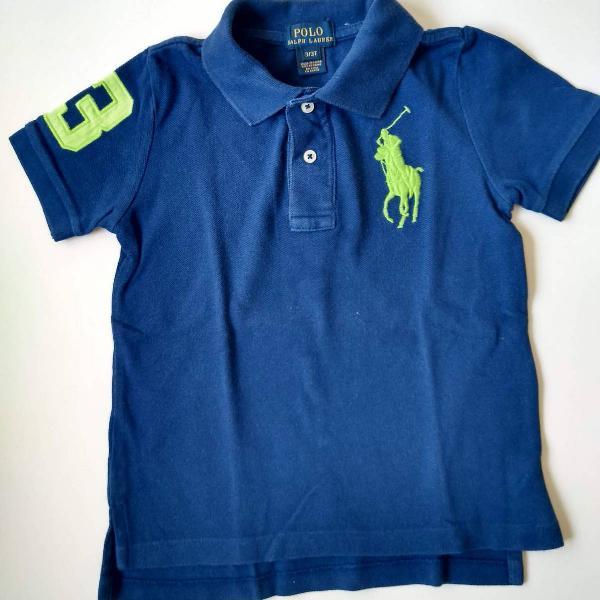 Camiseta polo - polo ralph lauren - menino 3 anos