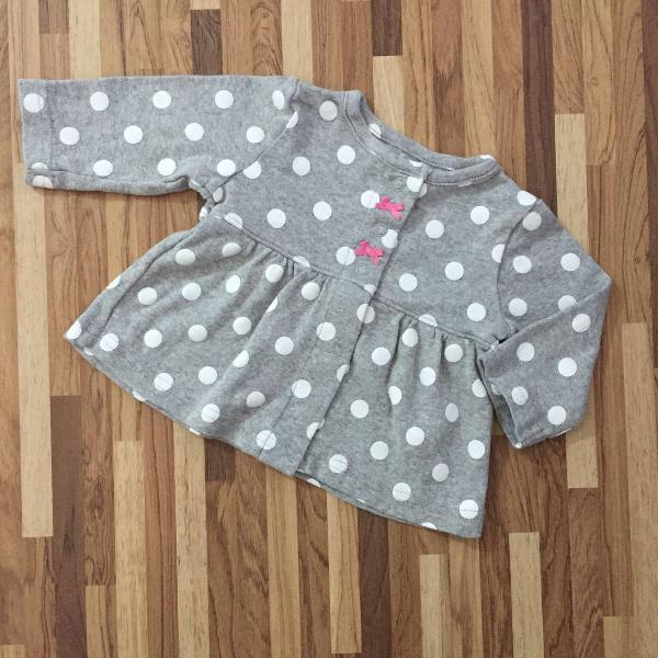 Carters - casaquinho rodadinho polka dot com lacinho para