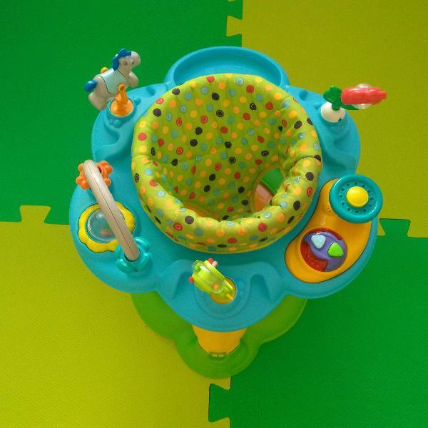 Centro de atividades burigotto playmove assento acolchoado e