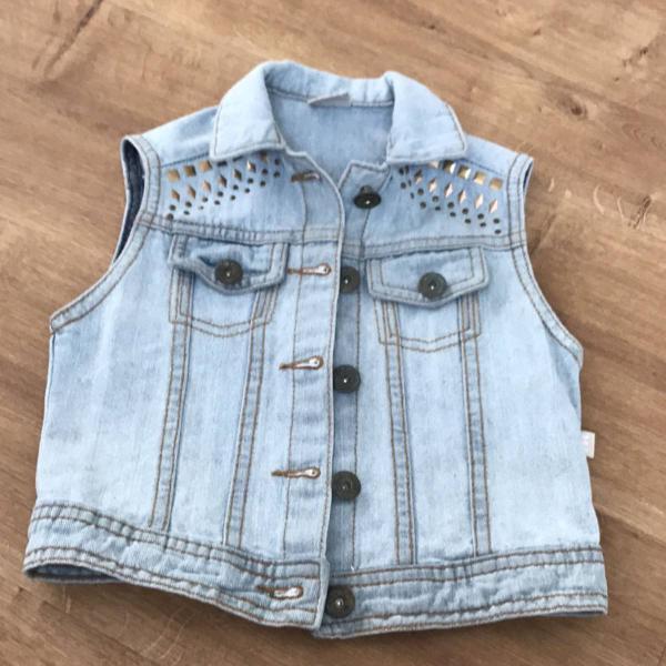 Colete jeans infantil lindo